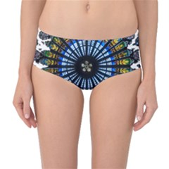 Rose Window Strasbourg Cathedral Mid-Waist Bikini Bottoms