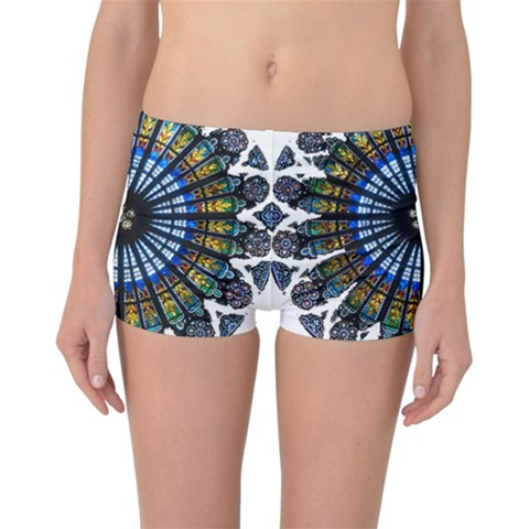 Rose Window Strasbourg Cathedral Reversible Boyleg Bikini Bottoms