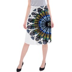 Rose Window Strasbourg Cathedral Midi Beach Skirt