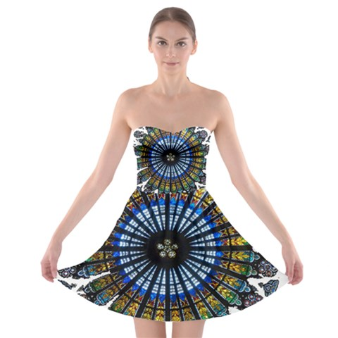 Rose Window Strasbourg Cathedral Strapless Bra Top Dress