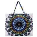 Rose Window Strasbourg Cathedral Zipper Large Tote Bag View1