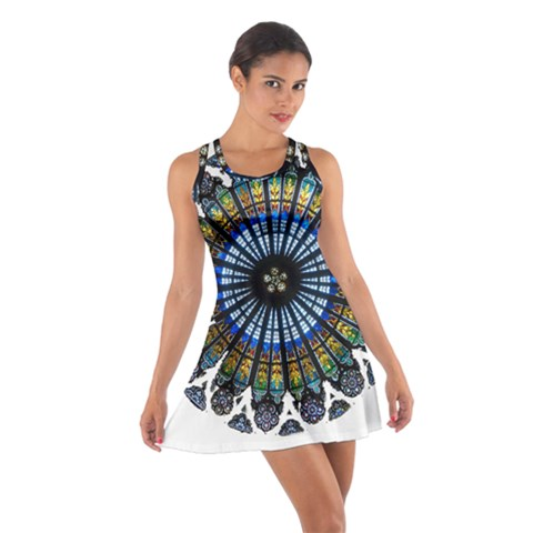 Rose Window Strasbourg Cathedral Cotton Racerback Dress