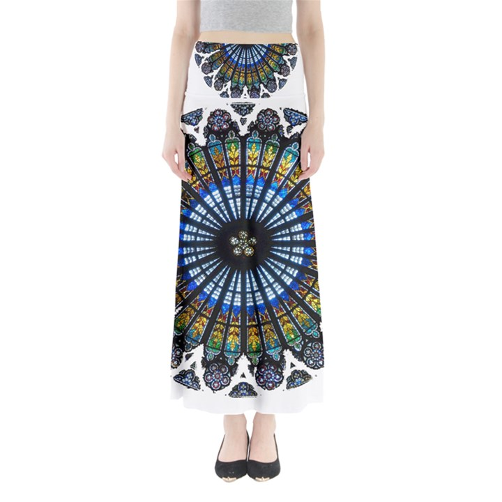 Rose Window Strasbourg Cathedral Maxi Skirts