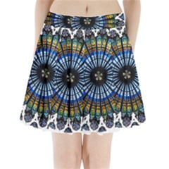 Rose Window Strasbourg Cathedral Pleated Mini Skirt