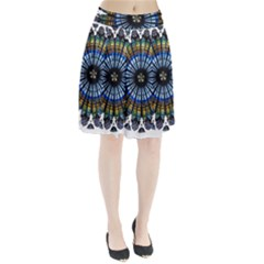 Rose Window Strasbourg Cathedral Pleated Skirt