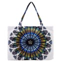 Rose Window Strasbourg Cathedral Medium Zipper Tote Bag View1