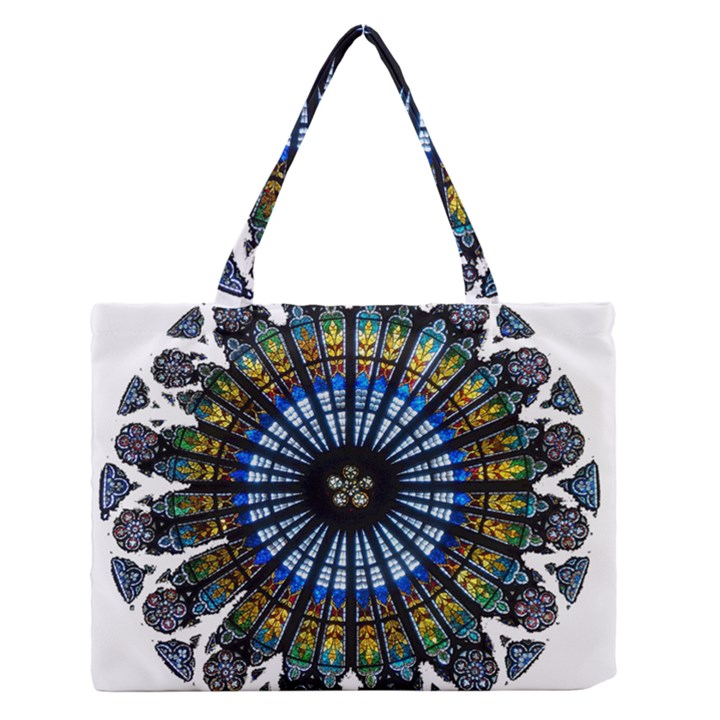 Rose Window Strasbourg Cathedral Medium Zipper Tote Bag
