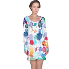 Colorful Diamonds Dream Long Sleeve Nightdress