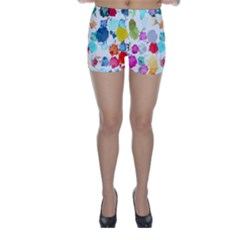 Colorful Diamonds Dream Skinny Shorts