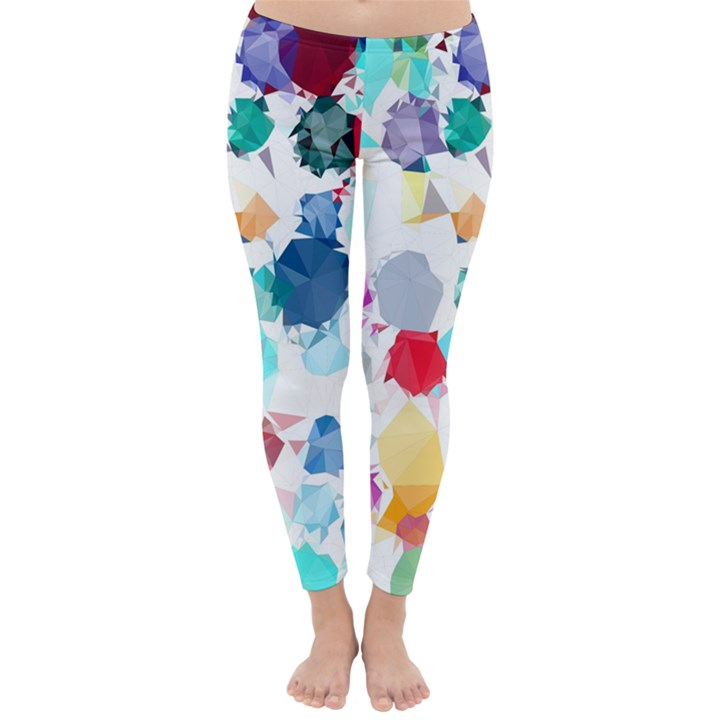 Colorful Diamonds Dream Winter Leggings