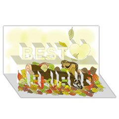 Squirrel  Best Friends 3D Greeting Card (8x4)