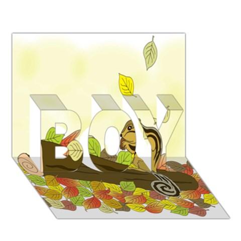 Squirrel  BOY 3D Greeting Card (7x5)