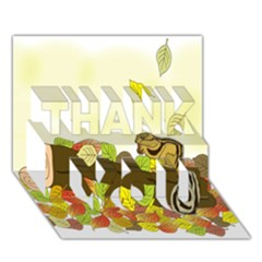 Squirrel  THANK YOU 3D Greeting Card (7x5)