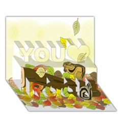 Squirrel  You Rock 3D Greeting Card (7x5)