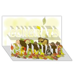 Squirrel  Congrats Graduate 3D Greeting Card (8x4)