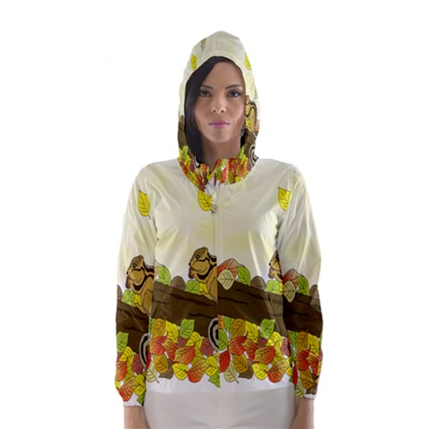 Squirrel  Hooded Wind Breaker (Women)