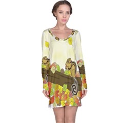 Squirrel  Long Sleeve Nightdress
