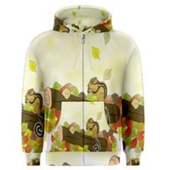 Squirrel  Men s Zipper Hoodie