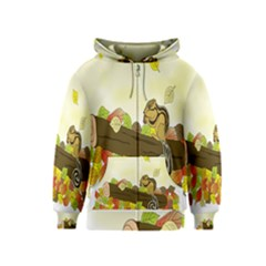 Squirrel  Kids  Zipper Hoodie