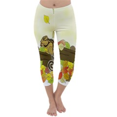 Squirrel  Capri Winter Leggings