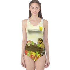 Squirrel  One Piece Swimsuit