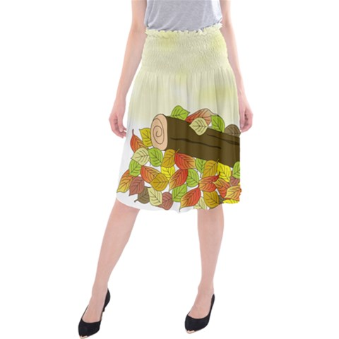 Squirrel  Midi Beach Skirt