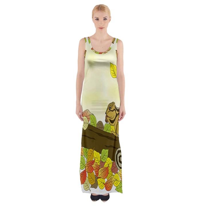 Squirrel  Maxi Thigh Split Dress