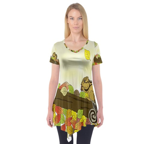 Squirrel  Short Sleeve Tunic