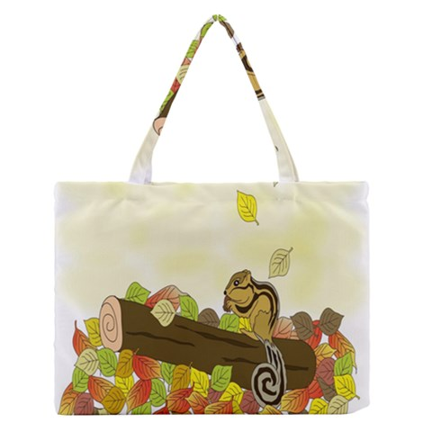 Squirrel  Medium Zipper Tote Bag