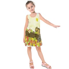 Squirrel  Kids  Sleeveless Dress