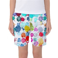 Colorful Diamonds Dream Women s Basketball Shorts