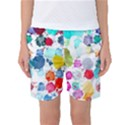 Colorful Diamonds Dream Women s Basketball Shorts View1