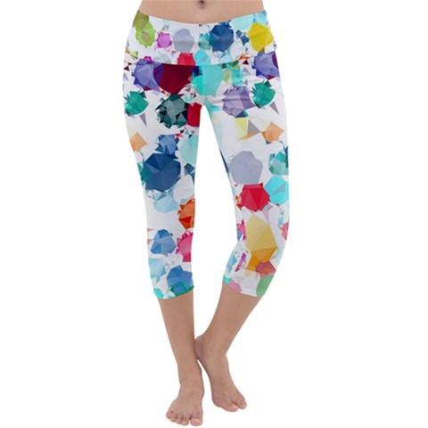 Colorful Diamonds Dream Capri Yoga Leggings