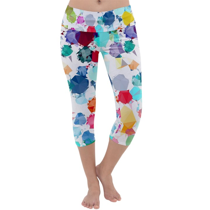 Colorful Diamonds Dream Capri Yoga Leggings