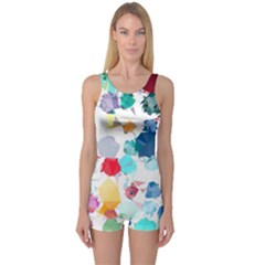 Colorful Diamonds Dream One Piece Boyleg Swimsuit