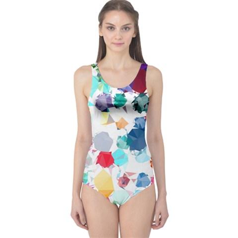 Colorful Diamonds Dream One Piece Swimsuit