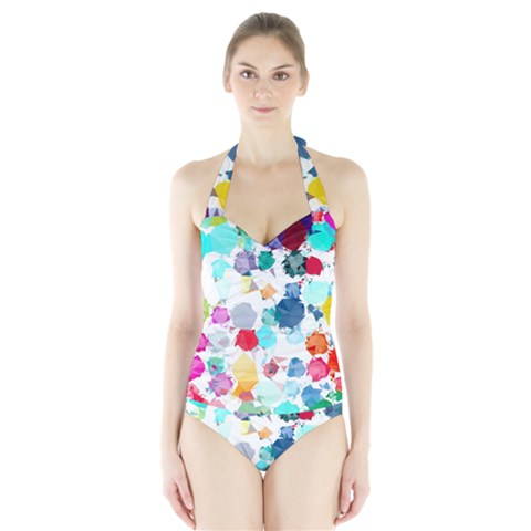 Colorful Diamonds Dream Halter Swimsuit