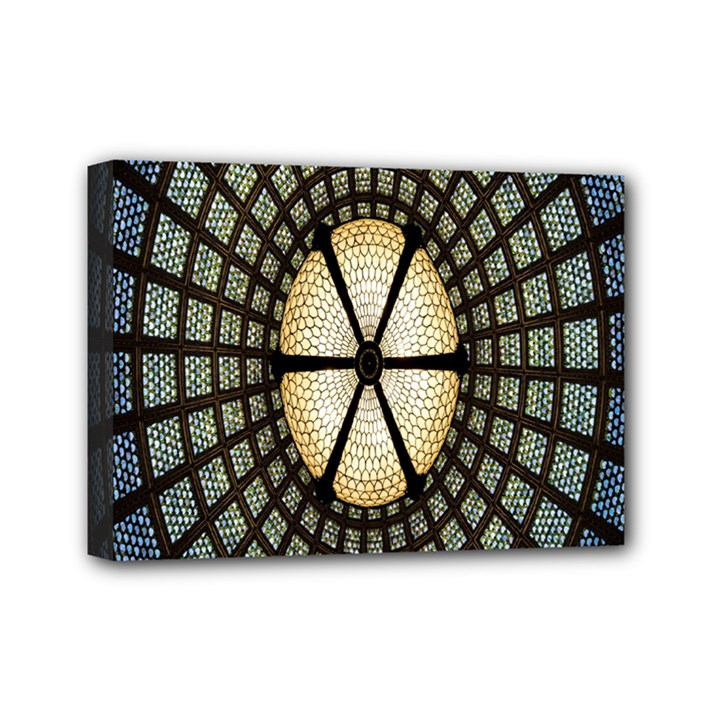 Stained Glass Colorful Glass Mini Canvas 7  x 5