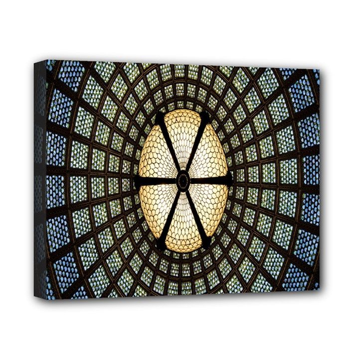 Stained Glass Colorful Glass Canvas 10  x 8