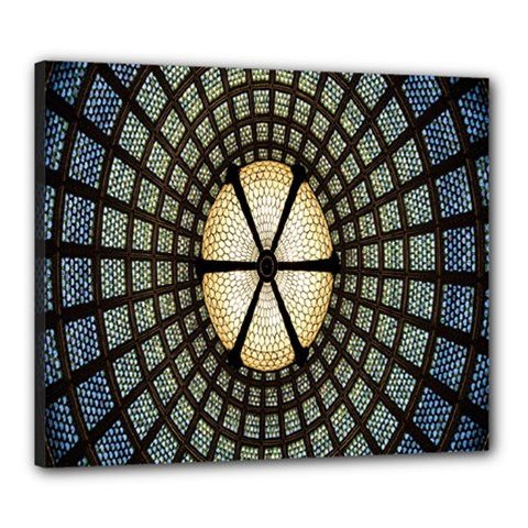 Stained Glass Colorful Glass Canvas 24  x 20
