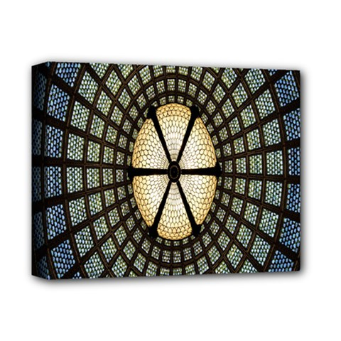 Stained Glass Colorful Glass Deluxe Canvas 14  x 11