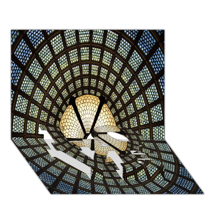 Stained Glass Colorful Glass LOVE Bottom 3D Greeting Card (7x5)