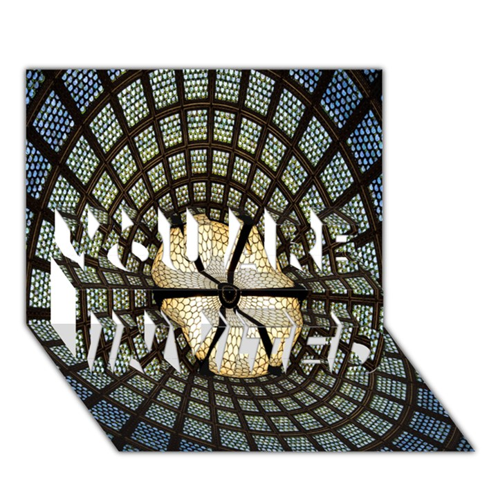 Stained Glass Colorful Glass YOU ARE INVITED 3D Greeting Card (7x5)