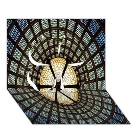 Stained Glass Colorful Glass Clover 3D Greeting Card (7x5)