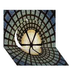 Stained Glass Colorful Glass Circle 3D Greeting Card (7x5)