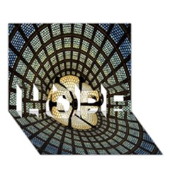 Stained Glass Colorful Glass HOPE 3D Greeting Card (7x5)
