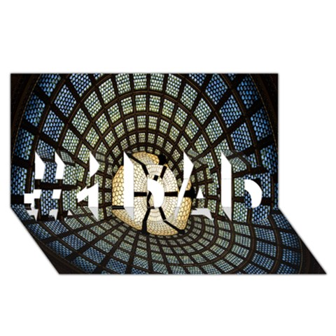 Stained Glass Colorful Glass #1 DAD 3D Greeting Card (8x4)