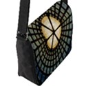 Stained Glass Colorful Glass Flap Messenger Bag (L)  View2