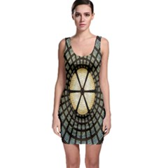 Stained Glass Colorful Glass Sleeveless Bodycon Dress