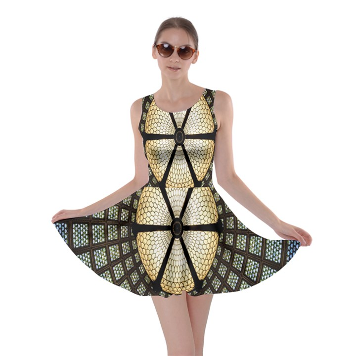 Stained Glass Colorful Glass Skater Dress